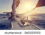 sailing boat  | Shutterstock . vector #360205553