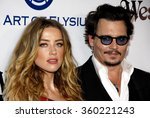 Amber Heard And Johnny Depp At...