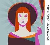 portrait of a woman  eps10...   Shutterstock .eps vector #360230387