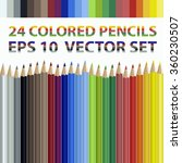 24 Realistic Colored Pencil...