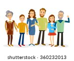 happy family portrait | Shutterstock .eps vector #360232013