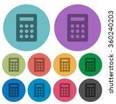 color calculator flat icon set...