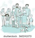 big set of people cartoon style ... | Shutterstock .eps vector #360241073
