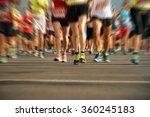 marathon running in the light... | Shutterstock . vector #360245183