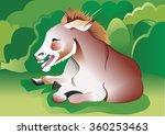 donkey smiling | Shutterstock .eps vector #360253463