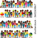 all age group of african... | Shutterstock .eps vector #360263867