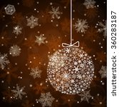 christmas background with ball... | Shutterstock . vector #360283187