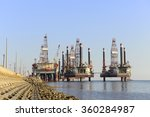 oil drilling platform in the... | Shutterstock . vector #360284987