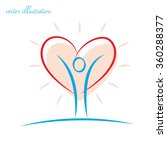 person with a heart   the idea... | Shutterstock .eps vector #360288377
