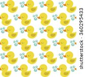 seamless rubber duck pattern | Shutterstock .eps vector #360295433