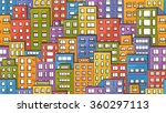 seamless colorful urban pattern ... | Shutterstock .eps vector #360297113