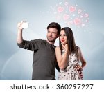 a young couple in love and... | Shutterstock . vector #360297227