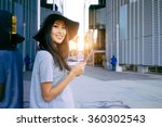 young smiley well dressed asian ... | Shutterstock . vector #360302543