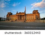 front scenic view on reichstag...