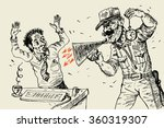 cruel discipline at office. the ... | Shutterstock .eps vector #360319307