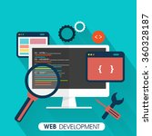 Web Development Concept With...