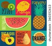 pop art grunge style fruit... | Shutterstock .eps vector #360352613