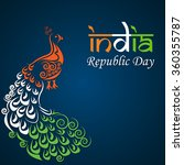indian republic day... | Shutterstock .eps vector #360355787
