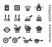 cooking  kitchen tools and... | Shutterstock .eps vector #360359063