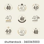 forty years anniversary... | Shutterstock .eps vector #360365003