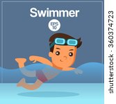 sport player   swimmer   vector ... | Shutterstock .eps vector #360374723
