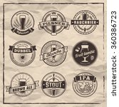 craft beer labels. traditional... | Shutterstock .eps vector #360386723