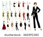 set of professional people... | Shutterstock .eps vector #360392183