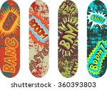 vector skateboard design pack...
