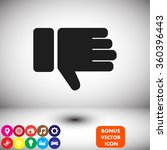 hand with thumb down  icon.... | Shutterstock .eps vector #360396443