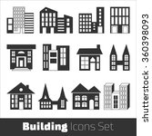 building icons set | Shutterstock .eps vector #360398093