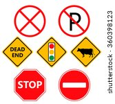traffic laws labels for your... | Shutterstock .eps vector #360398123