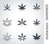 vector black marijuana icon set. | Shutterstock .eps vector #360409853