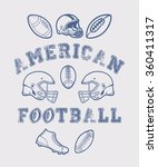 88 set of american football.... | Shutterstock .eps vector #360411317