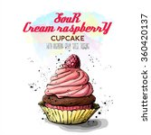 hand draw of tasty cupcake.... | Shutterstock .eps vector #360420137