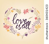 love is all typography | Shutterstock .eps vector #360431423
