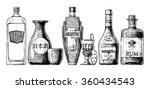 vector set of bottles of... | Shutterstock .eps vector #360434543