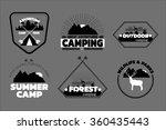 camping logos set  outdoor... | Shutterstock .eps vector #360435443