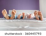 funny family feet. mother ... | Shutterstock . vector #360445793