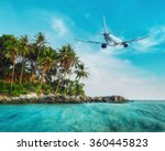 Постер, плакат: Airplane flying over amazing