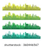 set of city silhouettes.... | Shutterstock .eps vector #360446567