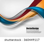 vector wave abstract background | Shutterstock .eps vector #360449117