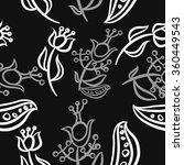 pattern  doodles ellipses ...   Shutterstock . vector #360449543