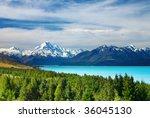 Mount Cook And Pukaki Lake  Ne...