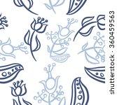 pattern  doodles ellipses ...   Shutterstock . vector #360459563