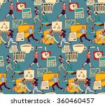 business people work office run ... | Shutterstock .eps vector #360460457