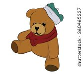 cute and happy teddy bear with... | Shutterstock .eps vector #360465227