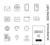 vector simple outline set of...   Shutterstock .eps vector #360467687