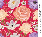 elegance seamless color flower...   Shutterstock .eps vector #360481673