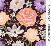 elegance seamless color flower... | Shutterstock .eps vector #360482243