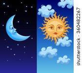 sun and moon | Shutterstock .eps vector #360482267
